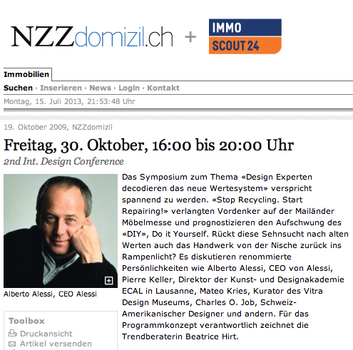 Symposium in der NZZ
